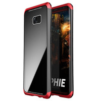 Luphie Toughend Glass Back Case Cover For Samsung Galaxy S8 S8 Plus Aluminum Metal Frame Hard
