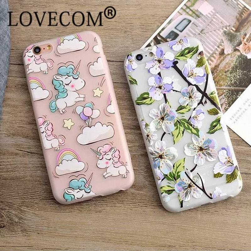 Moda de lujo floral pintado alivio 3d para apple iphone 6 6 S 6 Más 6 SPlus Bell