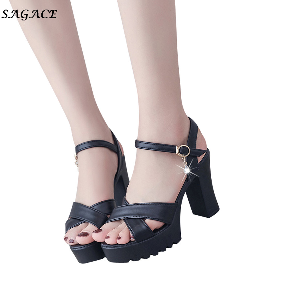 CAGACE Shoes Women Summer Shoes Fish Mouth Platform High Heels Wedge Sandals Buckle Slope Sandals zapatos mujer SIZE35-40CAGACE Shoes Women Summer Shoes Fish Mouth Platform High Heels Wedge Sandals Buckle Slope Sandals zapatos mujer SIZE35-40