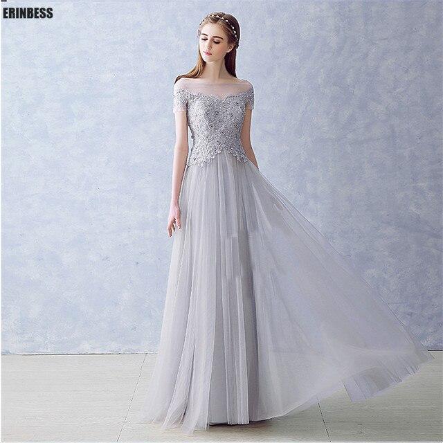 Robe De Soirée Vestidos Línea Nueva Noche Elegante Una Gris TlKc1J5uF3