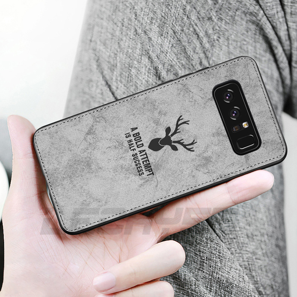Classic Denim Style Fabric Cloth Phone Case for Samsung A7 A8 A9 2018 S8 S9 Plus