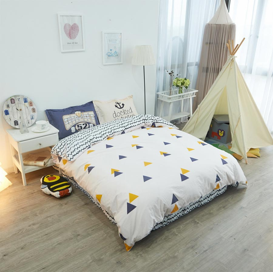contemporary comforter sets promotionshop for promotional  - brief geometric bedding set adult teen child kidcotton full queen fashiondouble home textile bed sheet pillowcase duvet cover