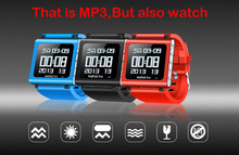 2016 MINI Sport Clip Multifunction Watch MP3 Music Player Video Player 8G 3D Pedometer Voice Recorder