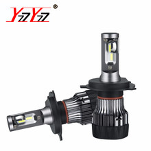 YzzYzz Mini H7 Led H4 Car Bulbs CSP 9005 HB3 9006 HB4 PSX26W 6500K With Removable Cooling Fan Led Auto Headlight H11 Fog Lamp(China)
