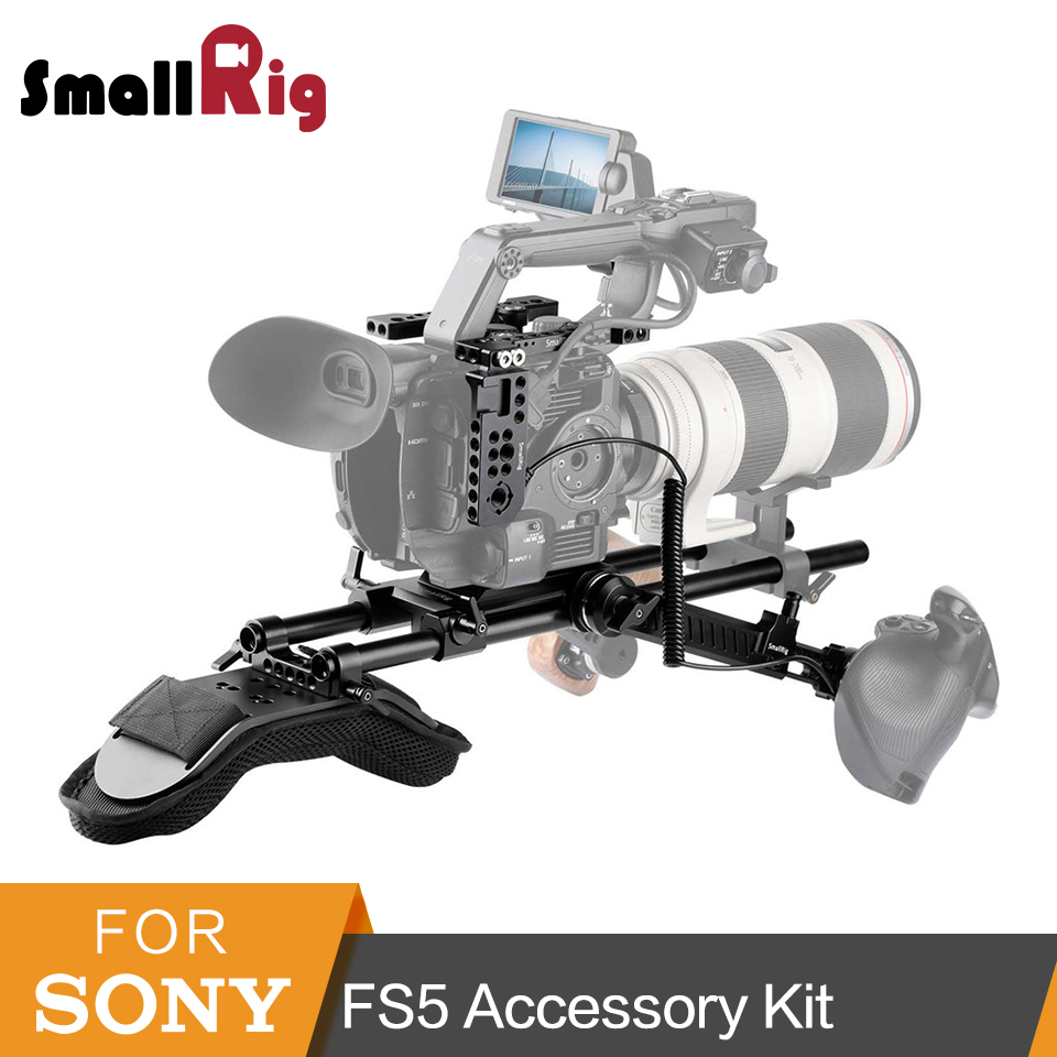 SmallRig For Sony FS5 PXW-FS5 Vidoe Shooting Accessories Kit With Shoulder Pad Rod Clamp Plate Extension Arm Support Kit-2007