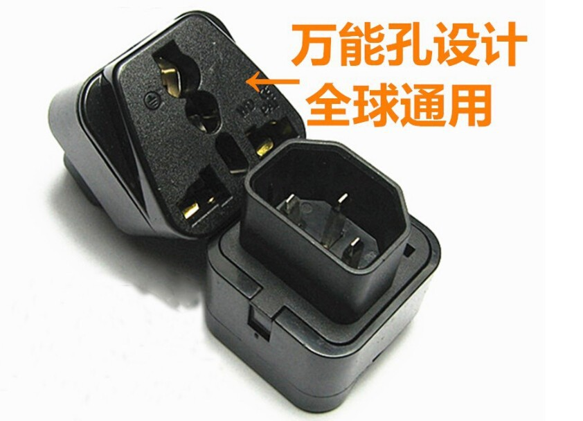High Power C13 to Universal 3 Prong Converter AC Socket for PDU UPS Server IEC320-C14 Plug 2500W iec 320 pdu ups c14 male to c13 female converter extension power cable switch power converter plug