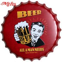 [ Mike86 ] BEER All A MAN NEEDS Apart From Sex Bottle Caps Metal Wall Art Plaque Vintage Hotel Pub Painting Decor 40 CM BG 75