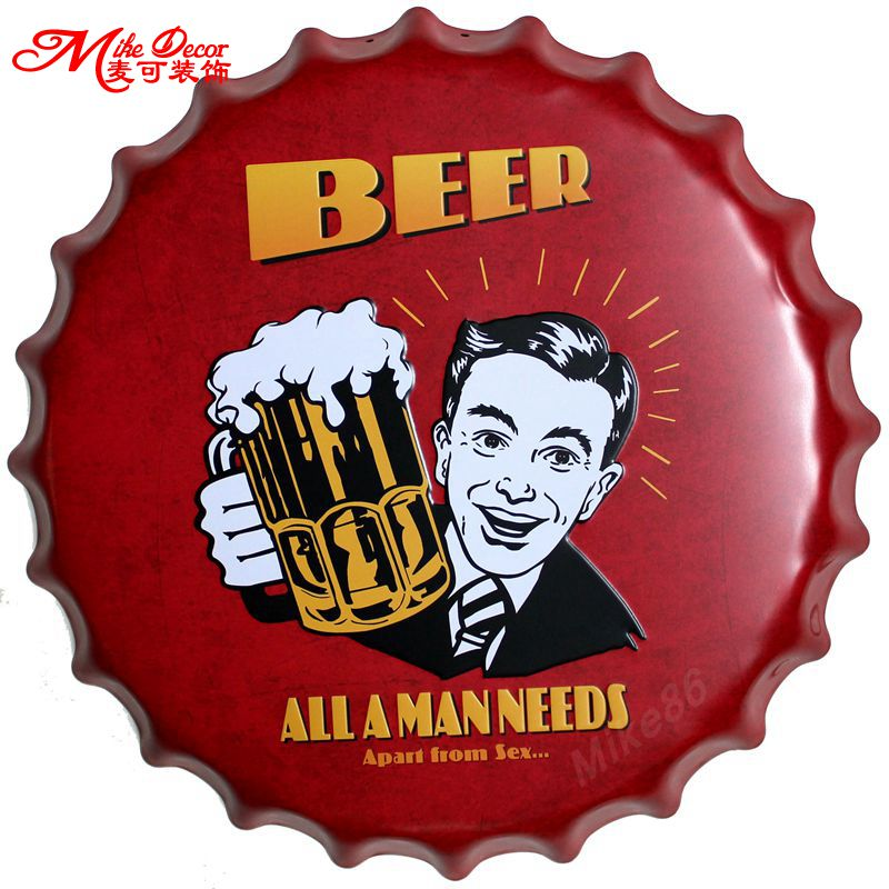 [ Mike86 ] BEER All A MAN NEEDS Apart From Sex Bottle Caps