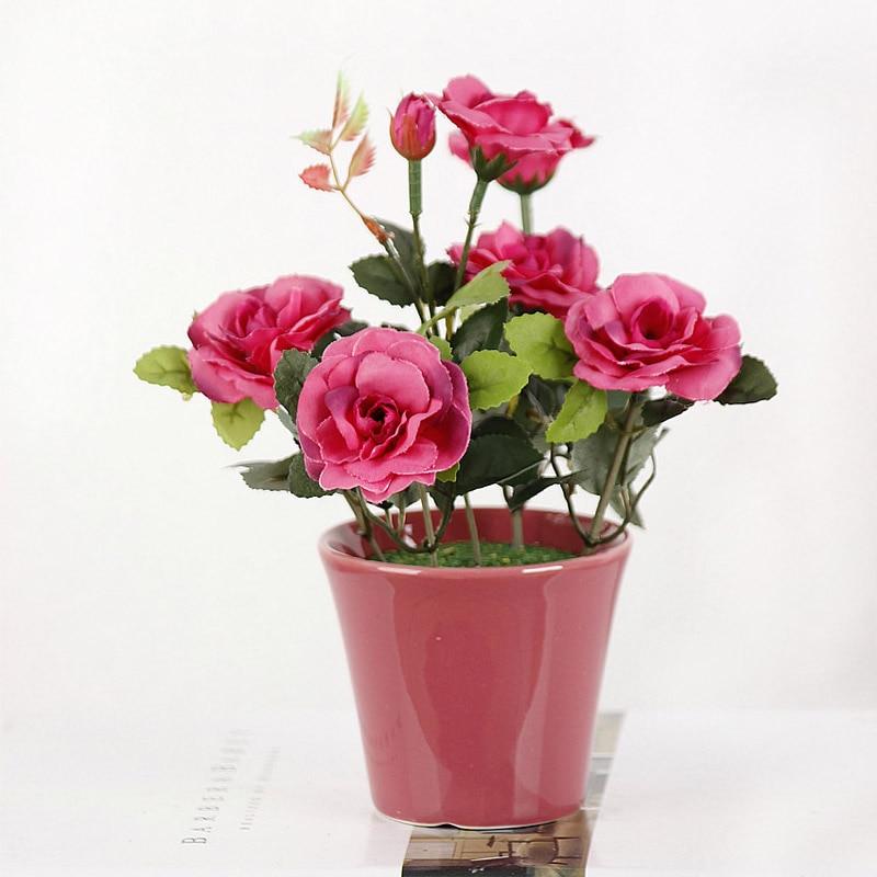 1PC ხელოვნური ყვავილები Bonsai - დღესასწაულები და წვეულება - ფოტო 5