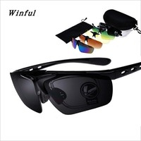 Bir Spor Güneş Gözlüğü 9 Set 5 Renk lens 1 gözlük çerçeve Profesyonel Gözlüğü Kapaklı Gözlük ücretsiz kargo güneş gözlüğü