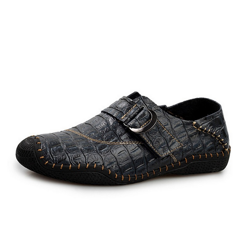 KUYUPP Size 38-44 Crocodile Leather Shoes For Men Moccasins Slip On Casual Men Loafers Spring Fashion Shoes High Quality S261 (16)