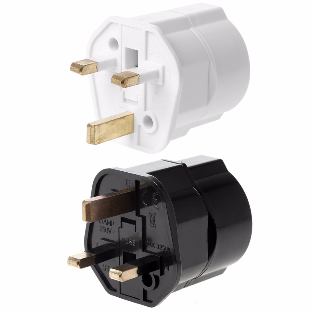 Multifunctional UK Male To EU Female Plug Power Converter Travel Charger Adapter