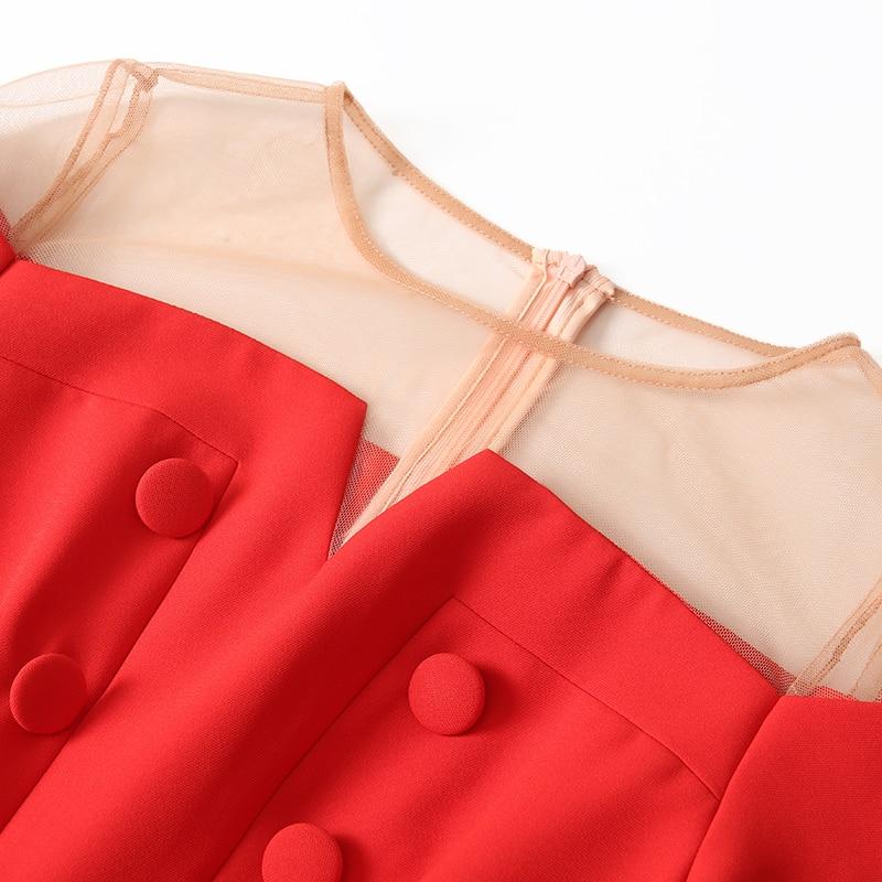 Neuf Ensembles Mode D'été Deux De Jambe Femmes Large 2018 Veste Bretelles Costume Court Polyester Perspective noir Rouge Tempérament Pantalon gwpWqPaf