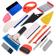 FOSHIO Vinyl Wrap Film Car Stickers Decals Micro Magnetic Stick Squeegee Carbon Fiber Wrapping Tools Window Tint Scraper Styling Accessories Cutter Knife