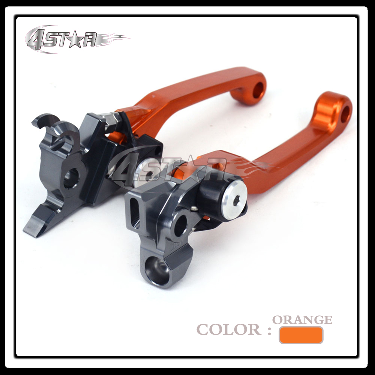 CNC Orange Pivot Foldable Clutch Brake Lever For KTM EXC SXF XCW SXR EXCR XCF XC SX XCRW EXCR cnc pivot brake clutch lever for kawasaki kx65 kx85 kx125 kx250 kx250f new
