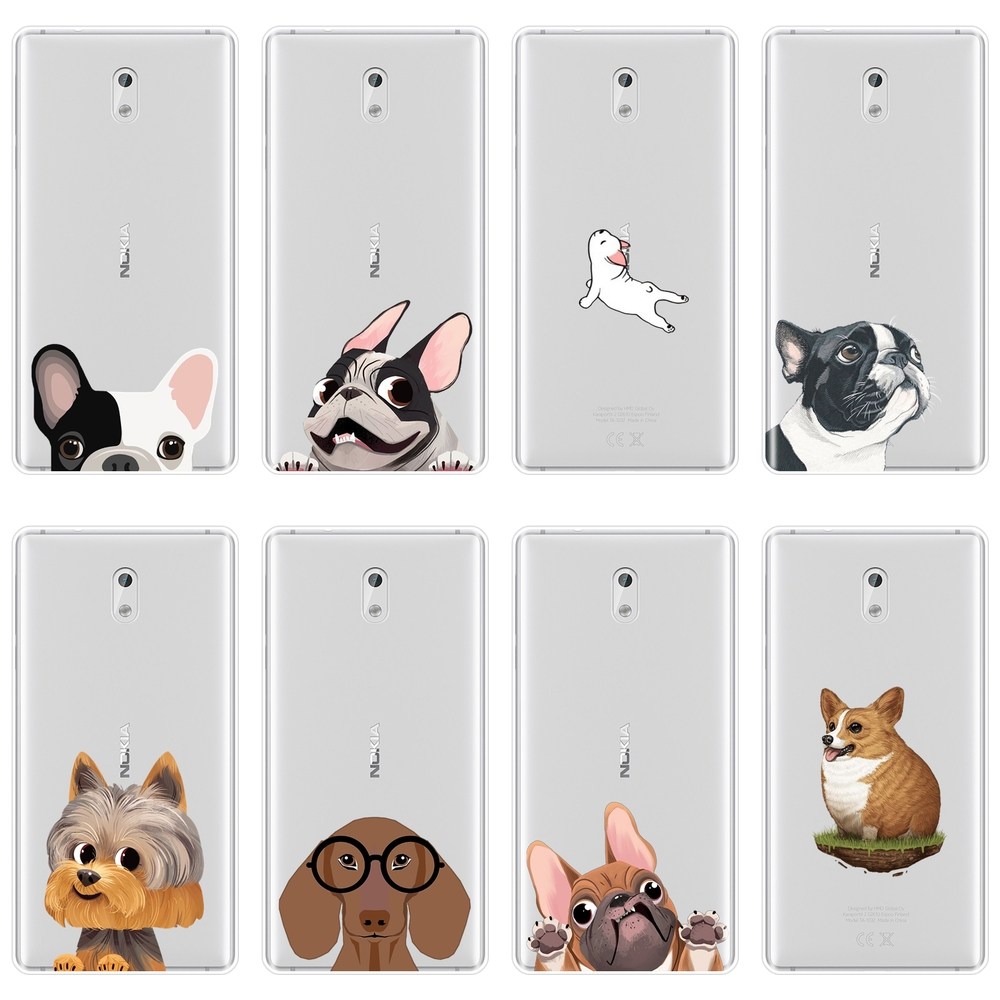 Pug <font><b>Dog</b></font> French Bulldog Corgi Puppy Kawaii Animal Phone <font><b>Case</b></font> Silicone For <font><b>Nokia</b></font> 7 Plus X6 Soft Back Cover For <font><b>Nokia</b></font> 1 2 <font><b>3</b></font> 5 6 8 image