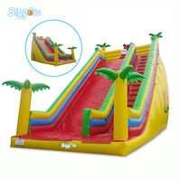 Outdoor Commercial Inflatable Dry Slide Inflatable Tropical Slide Inflatable Giant Slide