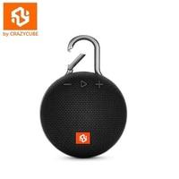 CrazyCube Clip3 Wireless Portable Mini Waterproof Bluetooth Speaker with Rubber Surround Fm radio 5W loudspeaker pk jbl go