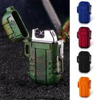 Electronic Lighter Outdoor Cigarette Lighters USB Charge Waterproof Windproof Travel Wild Survival Tools|Outdoor Tools| |  -