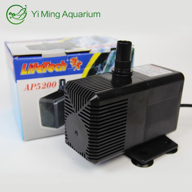 LifeTech 70W 3500L/H Mute Fountain pump Submersible Air Water Pump Water Pump Plastic Waterpump For Coral Koi Fish Tank AP5200