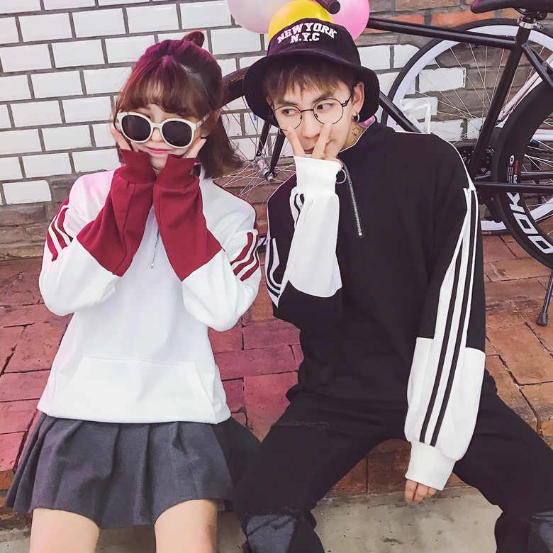 kpop 2019 Couple Sweatshirts BTS loose coat Korean plus velvet thickening  ins over the fire clothes Bangtan Boys k-pop tops