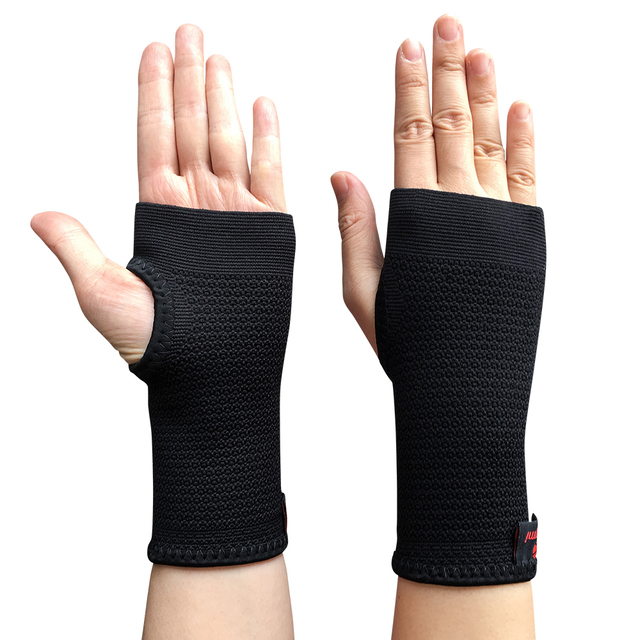 0a9af5e25d 1 Pair Kuangmi Carpal Tunnel Wrist Support Sports Wristband Compression  Wrist Sleeves Weightlifting Bracer Hand Palm Protector