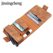 JINXINGCHENG 4 couleurs unies Flip étui portefeuille en cuir pour iqos 3 pochette sac titulaire boîte de sport étui pour iqos 3.0 avec poche pour carte