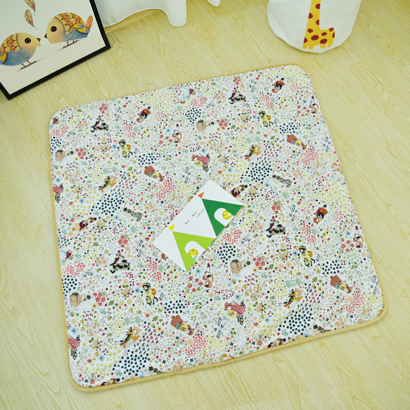 Floral Padded Kids Baby Floor Play Game Mat 1cm thickness Teepee Mat