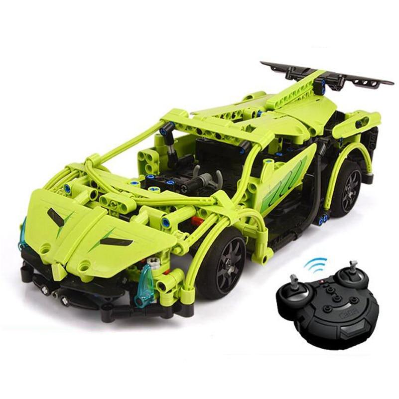 RC Car Model Building Blocks Set Sword Sports Car Education 453pcs Bricks Assembled Toys For Children Compatible Birthday Gifts 1 24 00750 assembled model car mclaren f1 gtr 1998 le
