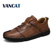 New Designer Comfortable Loafers Men Shoes Quality Leather Casual Shoes Men Flats Hot Sale Moccasins Shoes Fashion Sneakers(China)