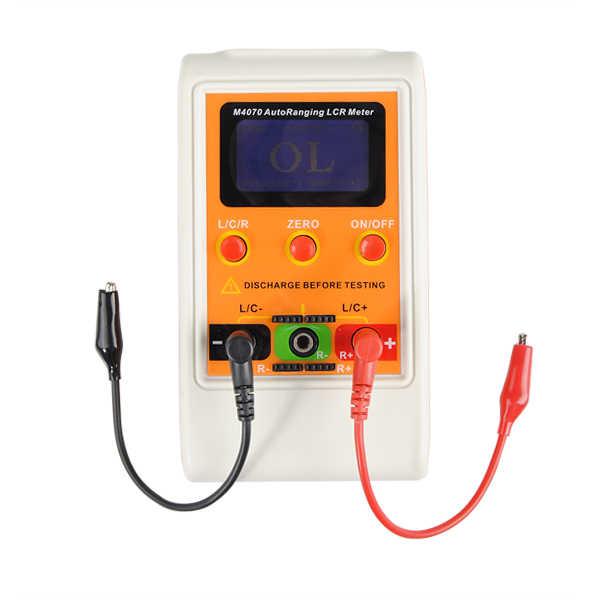 M4070 Handheld Auto zakrojone wyświetlacz LCD L C R most pojemność indukcyjność miernik z USB kabel wysokiej jakości