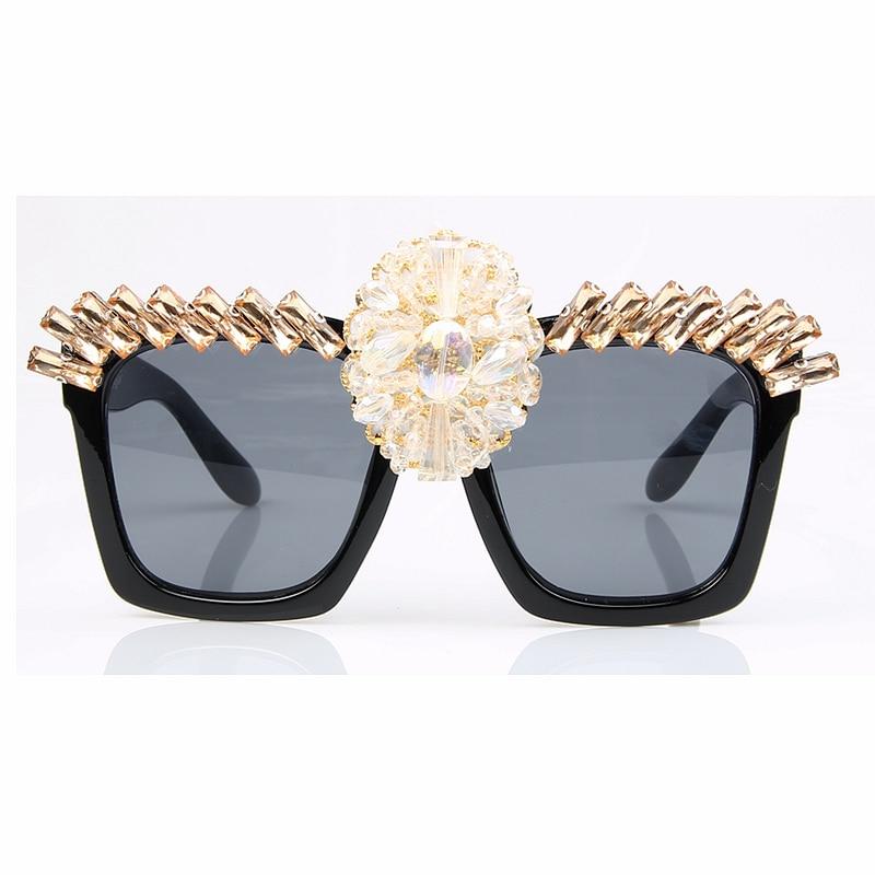 Monique Gafas de sol mujeres Cristal de lujo oversize cuadrado Gafas ...