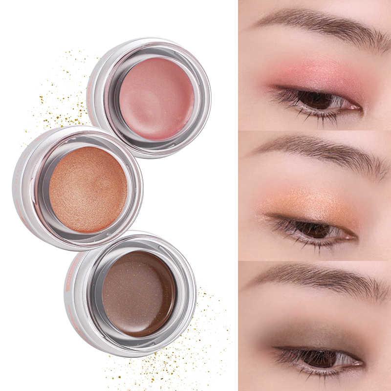 Farbe Buck Nude Shimmer Lidschatten Creme Augen Make-Up Nette Pearly Glanz Glitter Lidschatten Pulver Matte Pigment Kosmetik Schatten