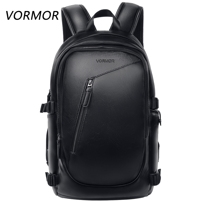 VORMOR Multifunction Men Backpack Fashion Waterproof PU Leather Backpack Male Travel Bag Casual School Bag For Women|Backpacks| |  - title=