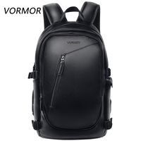 VORMOR Multifunction Men Backpack Fashion Waterproof PU Leather Backpack Male Travel Bag Casual School Bag For Women