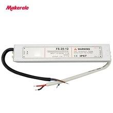 цена на 5V 12V 24V 36V Waterproof LED Power Supply 110V/220V IP67 20W LED Driver Transformator Switching Power Supply