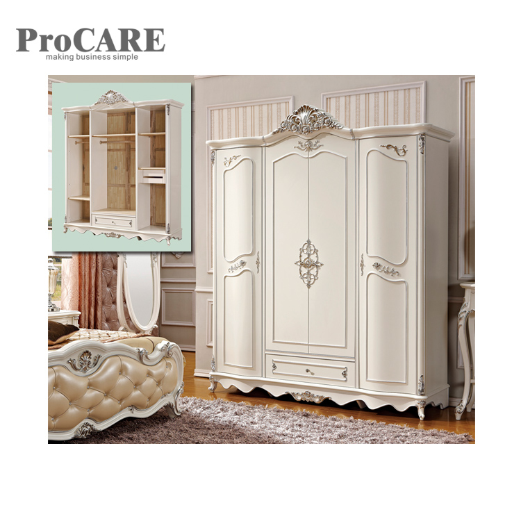 Classic luxury royal reproduction industrial furniture wardrobe cabinet - 8002 reproduction