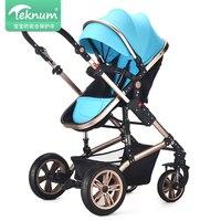 Высокая пейзаж детская коляска может сидеть и регулировать легко сложить ultra light От 0 до 3 лет детская коляска для новорожденных
