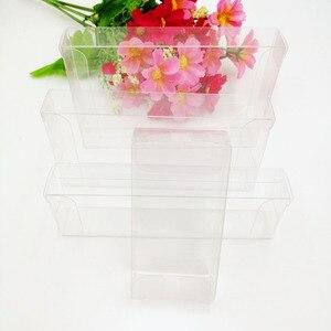 Image 3 - 50 pcs 2 xWxH Caixa De Pvc Transparente Caixas De Plástico Transparente De Armazenamento de Jóias Caixa de Presente de Casamento/Natal/Doces/ partido Para a Caixa de Embalagem do Presente
