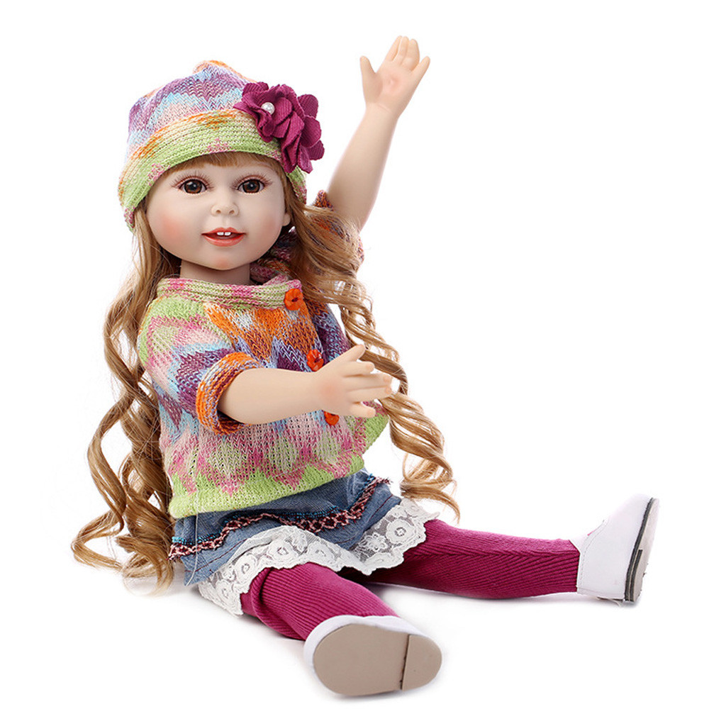 все цены на Realistic Girl Doll Baby Doll Realistic Reborn Dolls Toy With Beautiful Clothes And Shoes for Girl hot18mar31