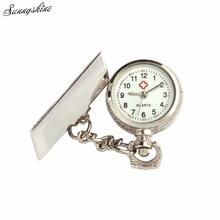 Fashion Unisex Watches Arabic Metal Fibula Nurse White Dial Quartz Pocket Watch Gift wholesale