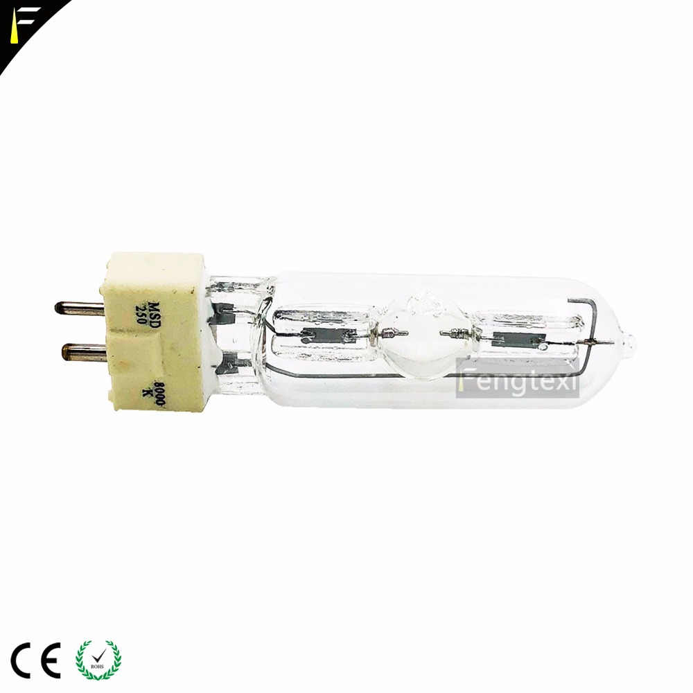 MSD 250/2 GY9.5 Stage Lamp Bulbs MSD 250W Watts Replace 71515302 for moving head lights scanning light wizard lightMSD 250/2 GY9.5 Stage Lamp Bulbs MSD 250W Watts Replace 71515302 for moving head lights scanning light wizard light