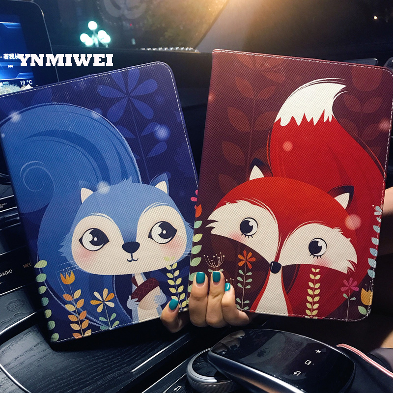 Cartoon Anime Tablet Case For New Ipad 9.7 2017 Universal For Ipad Pro 9.7 Cover Case Folding Folio Stand Leather Shell YNMIWEI folding leather stand case for new ipad 2nd 3rd 4th gen brown