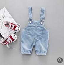 Kids Jeans 2019 New Fashion Summer Children's Denim Overalls Adjustable Boy Denim Shorts Toddler Baby Girls Pants SY-F192102