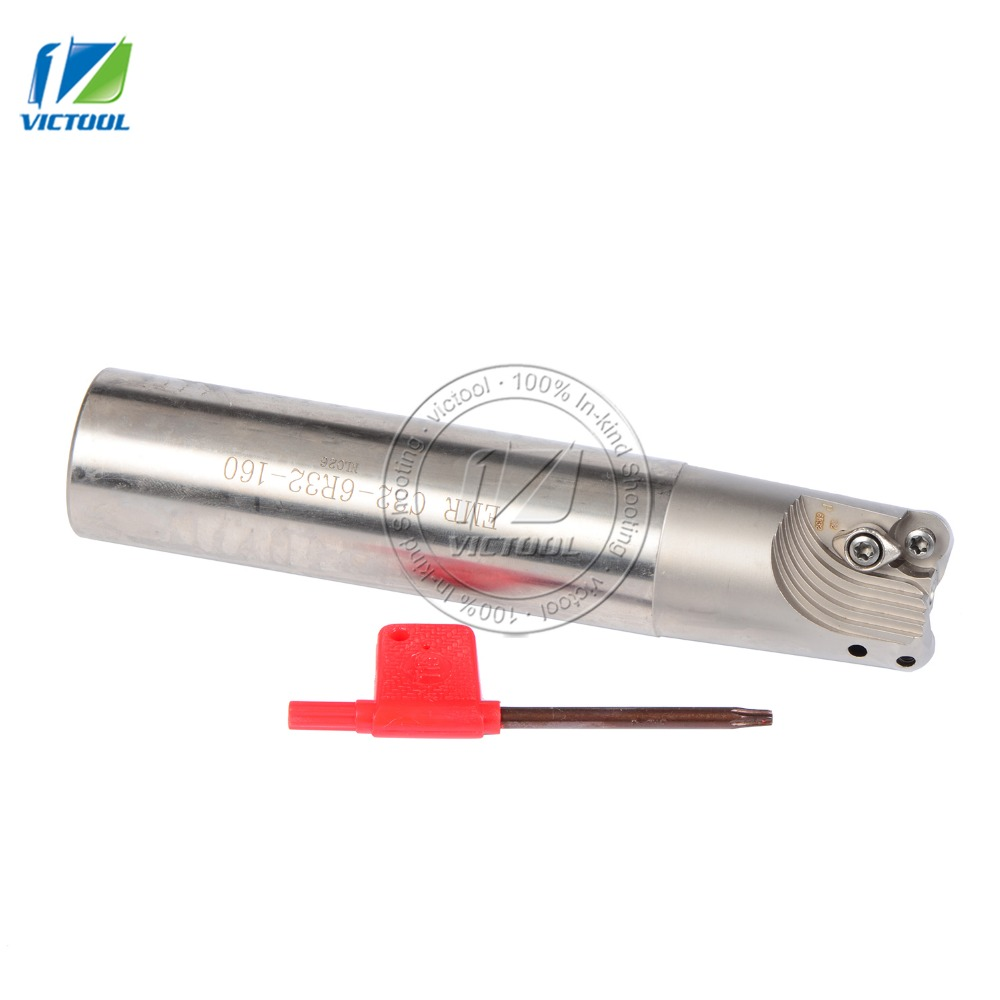 EMRC32-6R32-160-2T  indexable End Mill,Milling tool Holder for CNC Milling Machine,160mm Length, for Inserts bt40 er20 70l milling chuck tool holder for cnc milling machine center