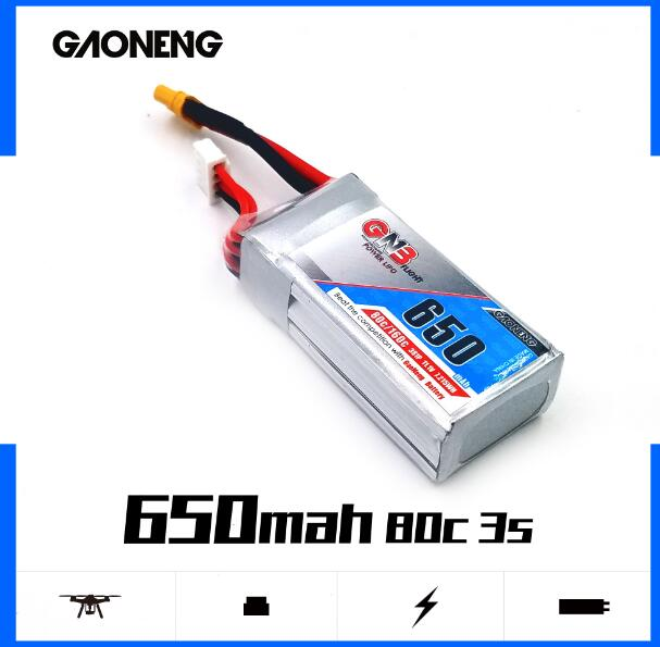 GNB <font><b>650MAH</b></font> <font><b>3S</b></font> 80C GAONENG 11.1V GNB <font><b>lipo</b></font> battery bundle 1 xt60 connector bundle 2 xt30 connector bundle 3 JST image