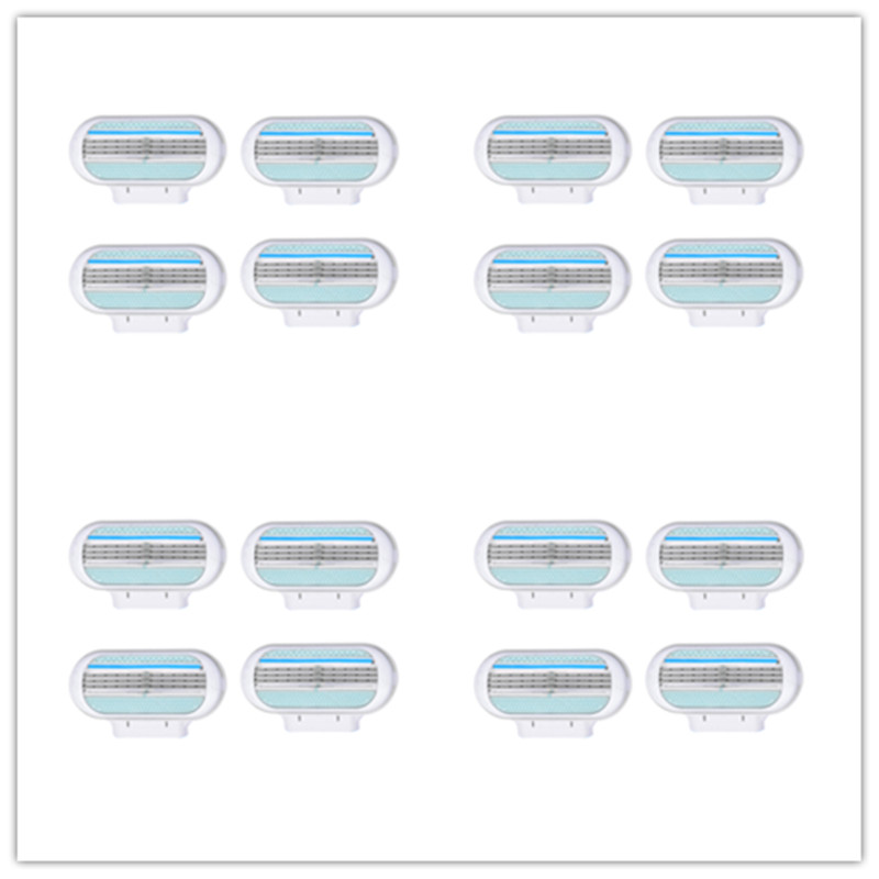 16pcs Beauty Safety Razor Blade Shaving Blades Female Sharpener 3 Layers Woman Razor Blades Head Suitable For Venuse Face Care