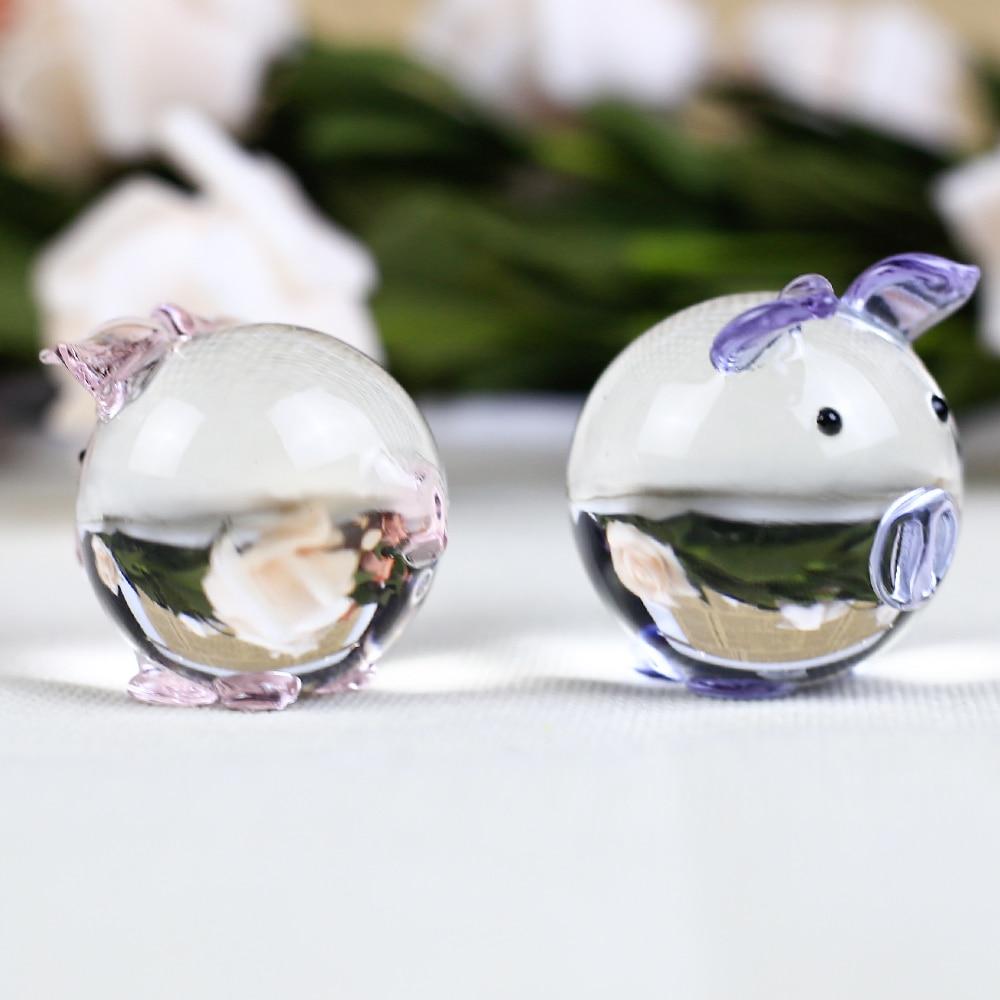 1 κομμάτι χαριτωμένο κρύσταλλο χοίρων - Διακόσμηση σπιτιού - Φωτογραφία 5