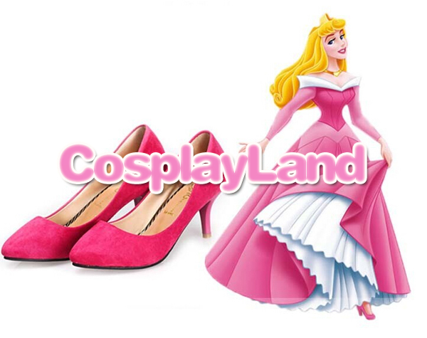 customize boots sleeping beauty aurora princess girl pink shoes for women halloween party cosplay shoes in shoes from novelty special use on