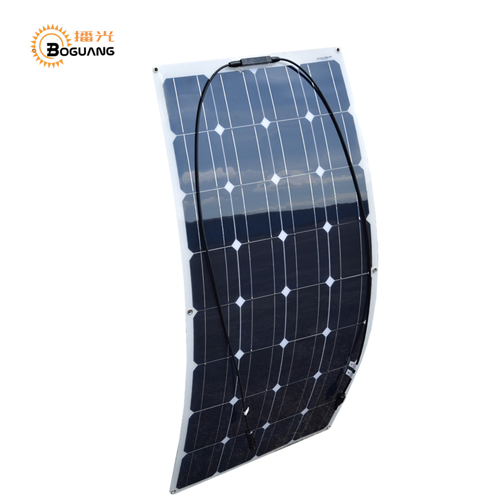 Boguang 8*100 Watt 12V  Monocrystalline semi flexible Solar panel 800W cell kits house camping RV yacht Car Roof wall sp 36 120w 12v semi flexible monocrystalline solar panel waterproof high conversion efficiency for rv boat car 1 5m cable